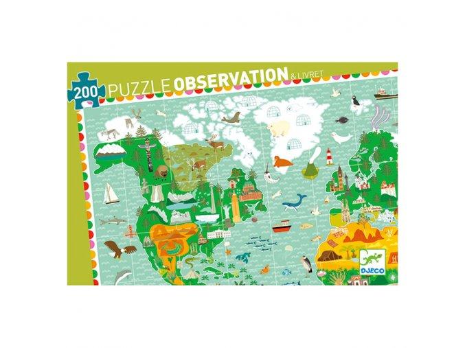 Djeco Puzzle Cesta kolem světa 200 dílků