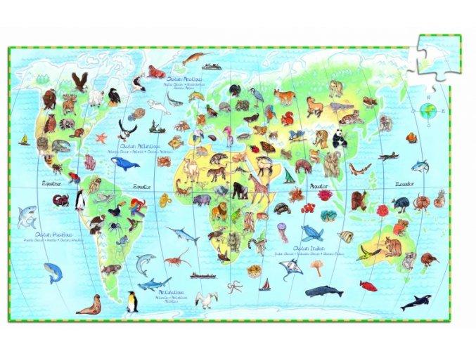 Puzzle Kde bydlí zvířata, 100 dílků