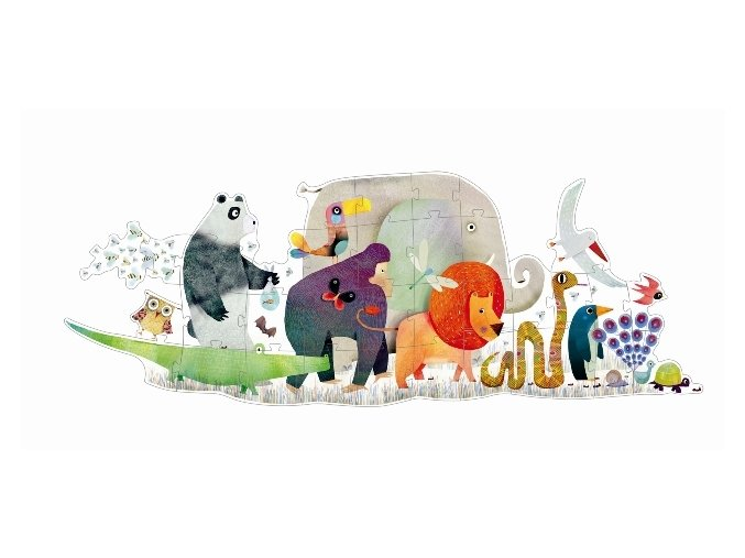 Djeco obří puzzle Zvířecí přehlídka