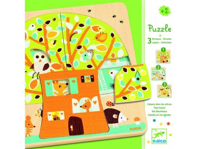 Třívrstvé puzzle pro nejmenší Obyvatelé stromu