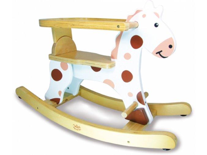 Vilac Dřevěný houpací kůň bílý Vilac