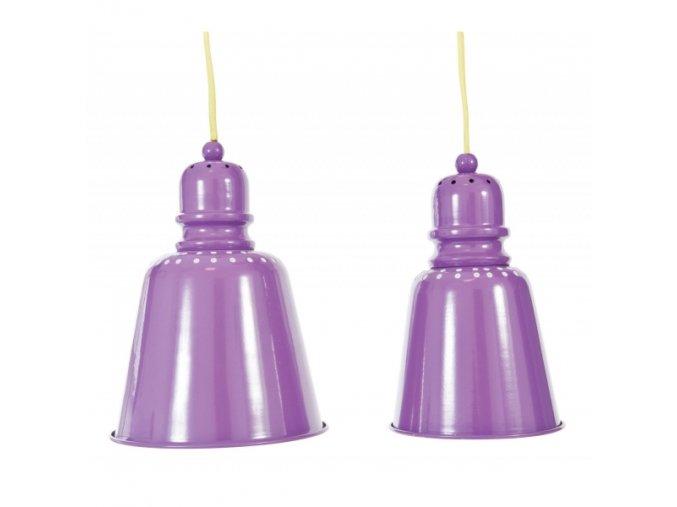 Kovová závěsná lampička- lila