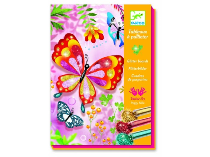 Malování barevným pískem Třpytiví motýlci