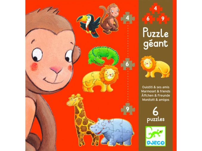 Puzzle Opička a přátelé