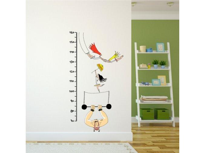 Nálepka na stěnu - metr - Cirkus - 160 cm
