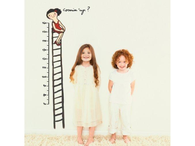 Nálepka na stěnu metr Pojď za mnou nahoru 160 cm