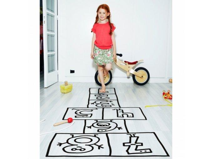Nálepka na podlahu - skákací panák
