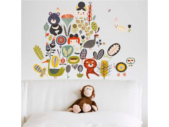 Nálepka na stěnu Džungle