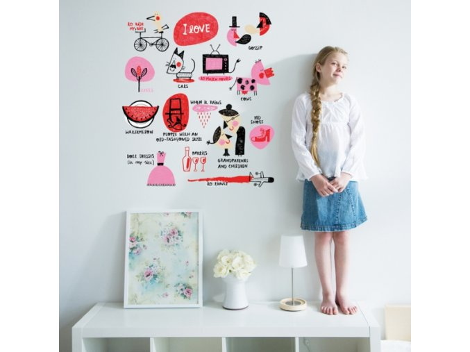 Nálepka na stěnu I like it
