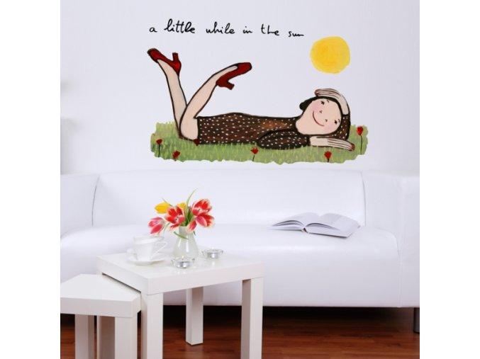 Nálepka na stěnu - Vteřina na slunci