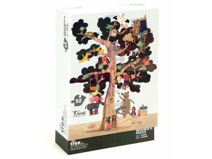 Oboustranné puzzle Můj Strom, 52 dílků