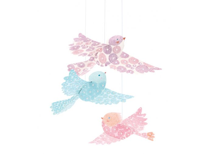 Závěsná dekorace - Blyštící se ptáčci