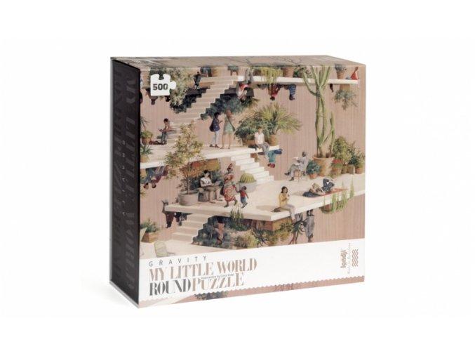 Kruhové puzzle 500 dílků Gravitace