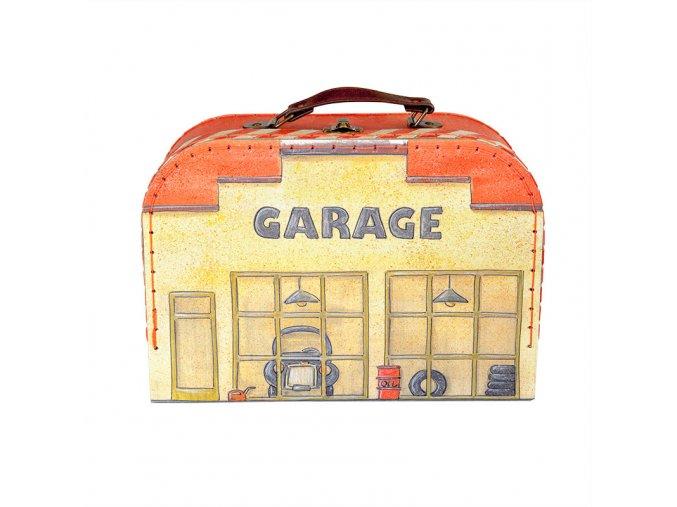 Garáž s mapou a autíčky v kufříku