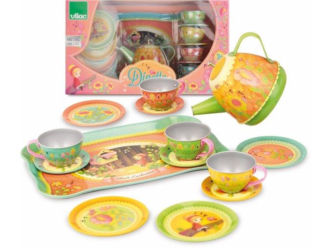 Vilac kovové musical čajové nádobí