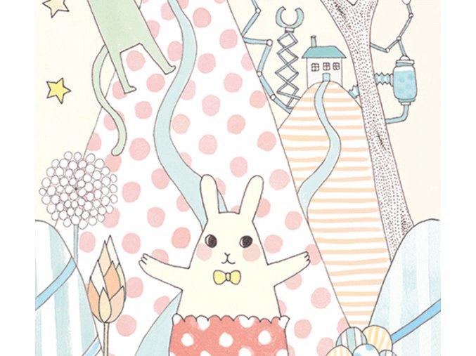 Tapeta - s pastelovými zajíčky