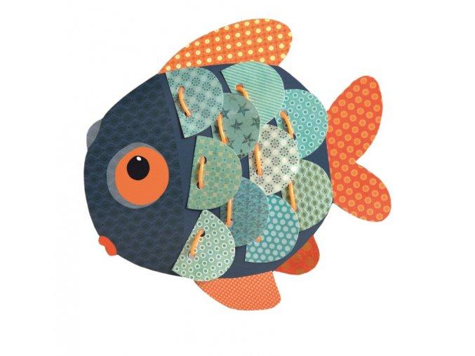 Šití s rybou  - výtvarný set pro nejmenší 3+