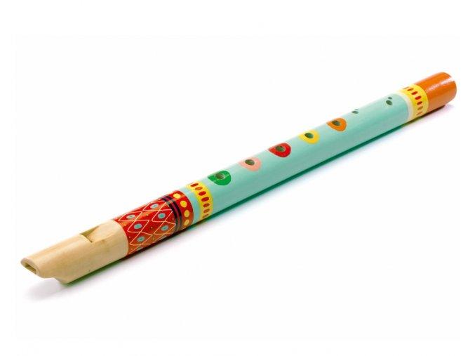 Dřevěná malovaná flétnička
