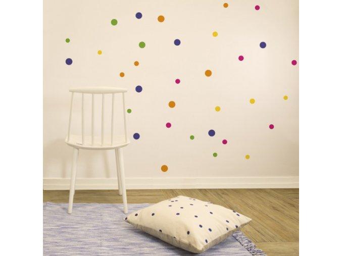 Nálepka na stěnu Barevné konfety