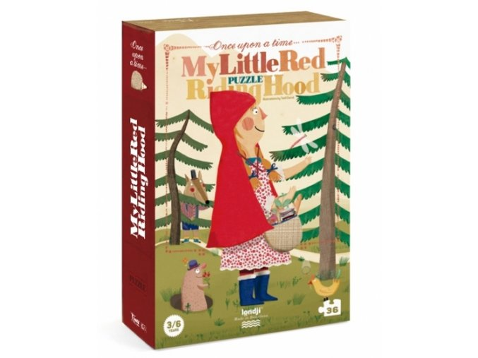 Puzzle Červená Karkulka, 36 dílků