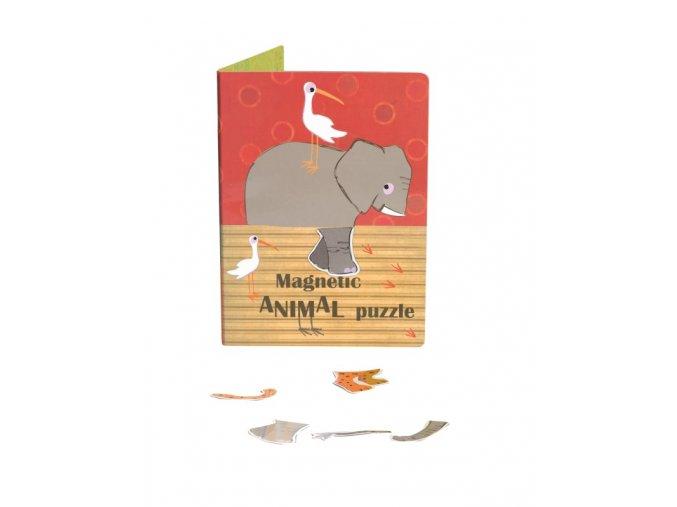 Magnetické puzzle Zvířata z džungle