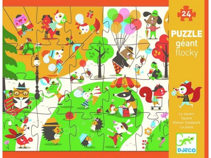 Hmatové puzzle Zvířátka v parku, 24 díků