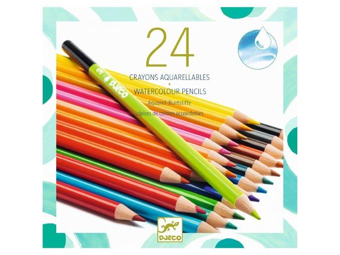 Akvarelové pastelky, sada 24 kusů, 6+