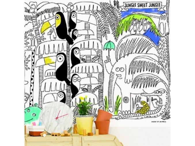 Dokreslovací nálepka - Veselá džungle