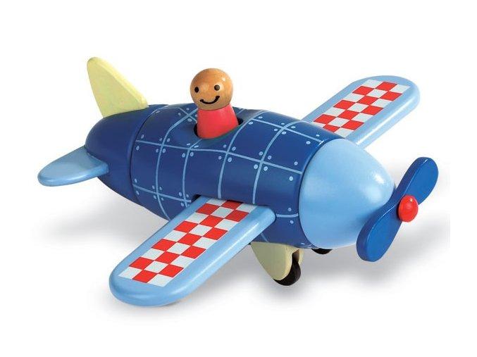 Dřevěná magnetická skládačka Letadlo