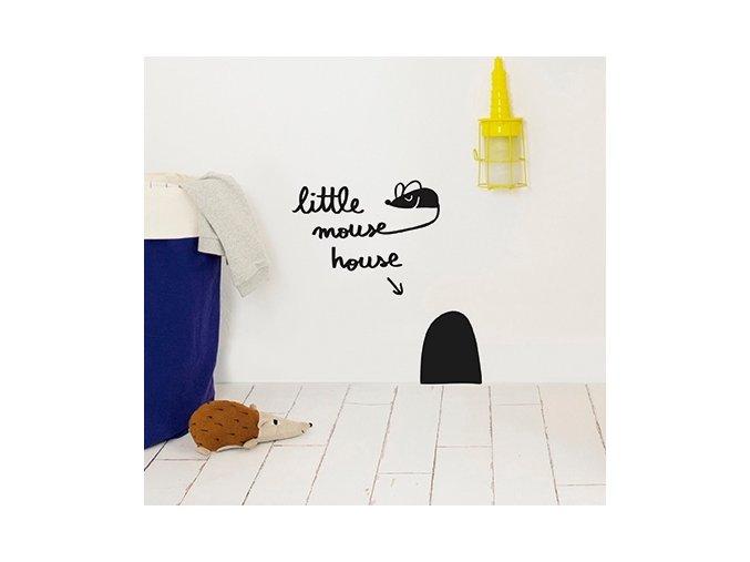 Nálepka na stěnu Myší díra