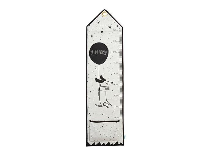 Měřící panel s kapsou Ahoj světe!