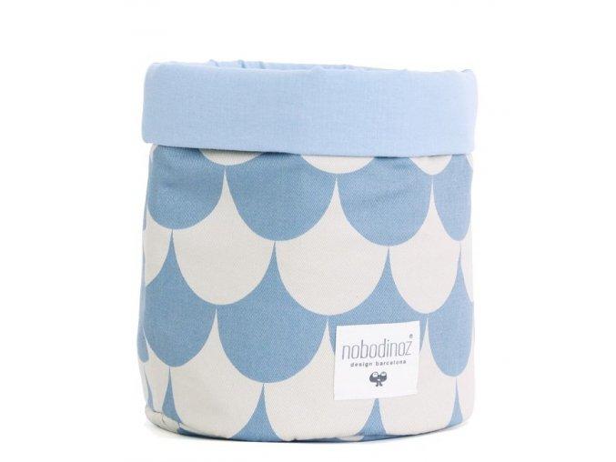 Látkový košík Mambo - Blue scales, malý