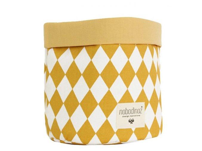 Látkový košík Mambo - Honey diamonds, velký