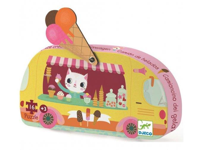 Puzzle Zmrzlinářský vůz