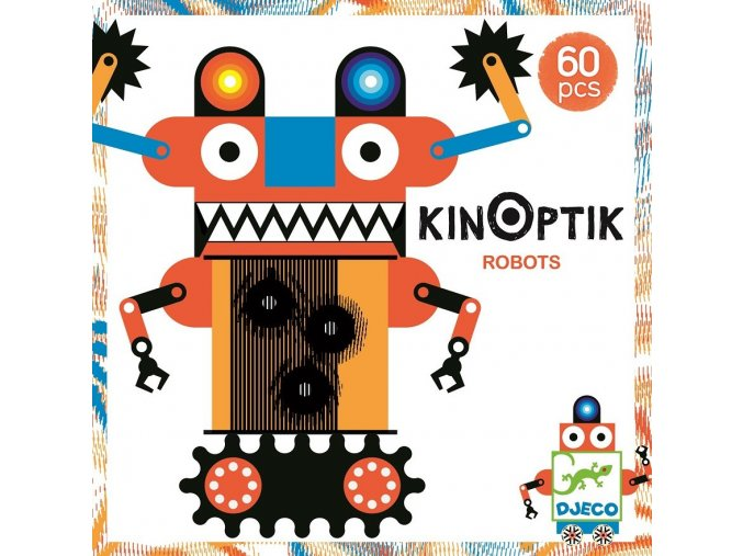 Magnetická skládačka s optickou iluzí Kinoptik - Roboti