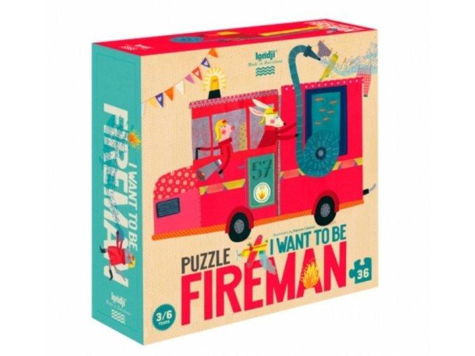 Dětské puzzle hasiči, 36 dílků