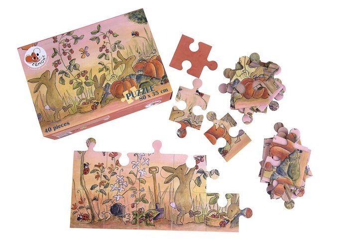Puzzle - Zahrada 3+