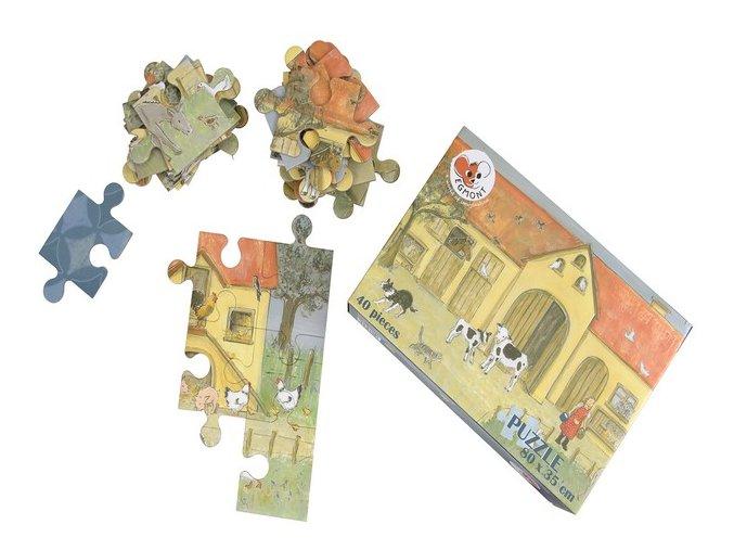 Podlahové puzzle Farma, 40 dílků