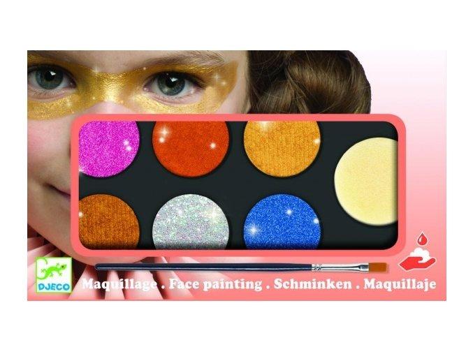 Metalické barvy na obličej