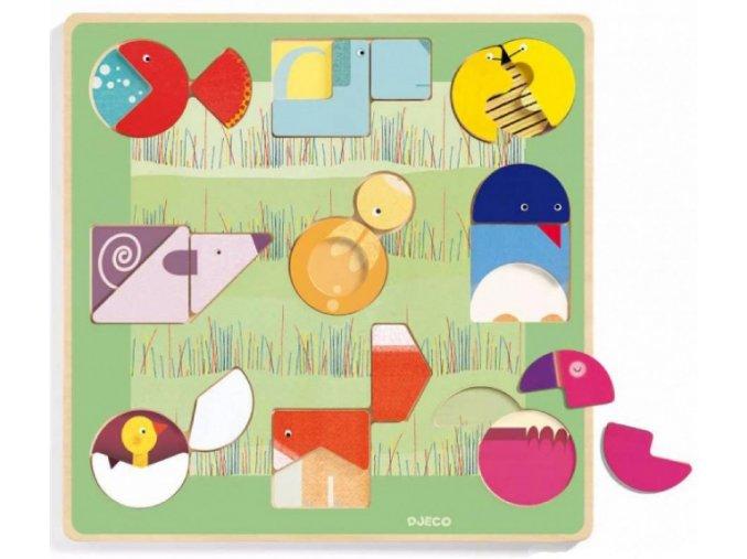 Interaktivní vkládací puzzle Ludiform pro nejmenší