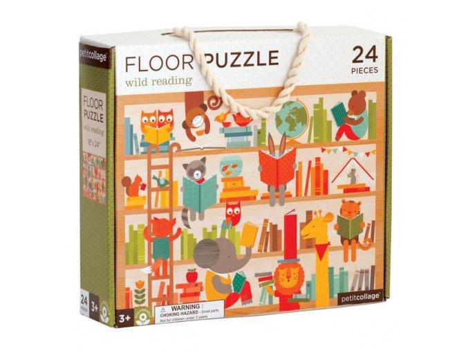 Podlahové puzzle Divoké čtení, 24 dílků