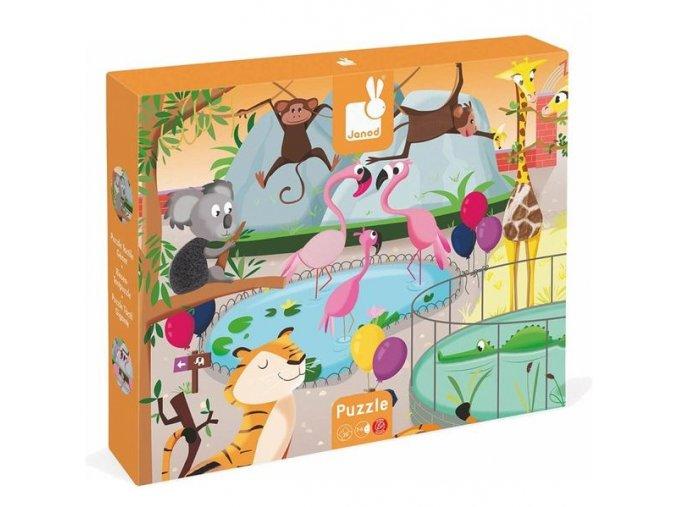 Hmatové puzzle Den v ZOO, 20 dílků