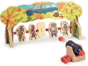 Dřevěná hra - útok pirátů