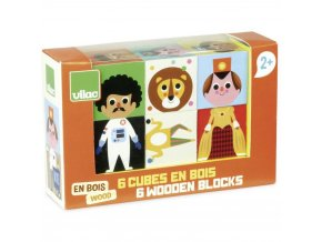 Dřevěné kostky - Zábavné postavičky