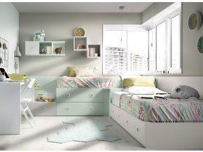 postel s úložnými prostory Rimobel
