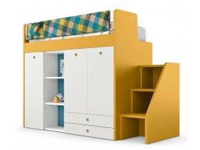 nidi letto castello con armadio e piano scrivania ergo