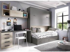 pokoj se sklopnou postelí H418 W