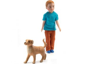 djeco poppenhuis jongen xavier met hond
