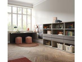 2b knihovna a psací stůl Lagrama