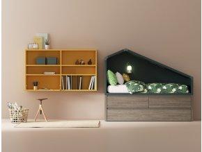 postel Cottage s výsuvným lůžkem